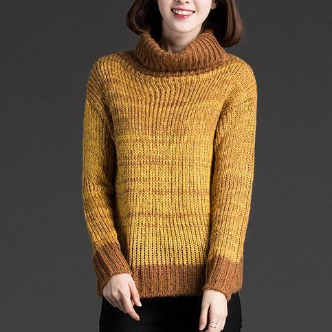 Good Quality Fashion Autumn High-Collar Long Sleeve Sweater 2 Color