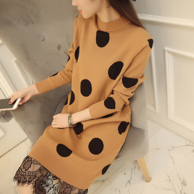 New Dot female suit backing sweater lace dress