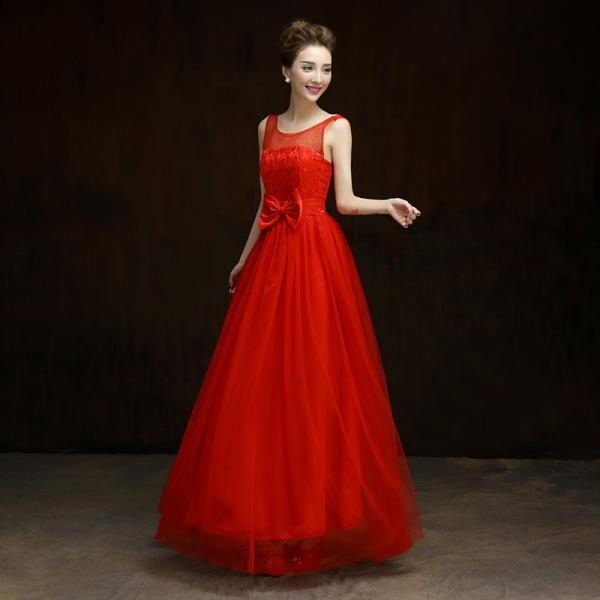 Summer style New 2016 fashion formal long design elegant gown evening dress - Red