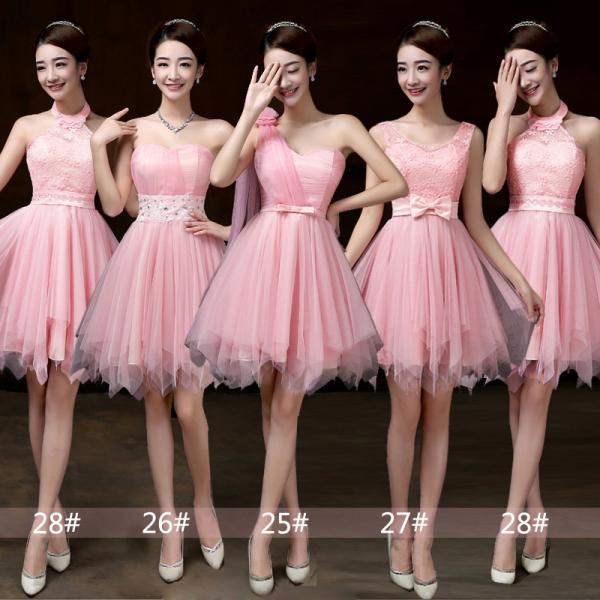 Hot Selling,Bridesmaid Dress, Mini Prom Dresses ,Beading Dress ,Evening Dress ,Formal Dress - Pink