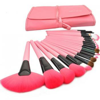 Hot Selling,24PCS High Quality Professional Makeup Brushes Set-Pink