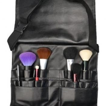 Hot!!Professional Make Up Brushes Belt Tool Pocket Bag With 21 Slots For Brushes