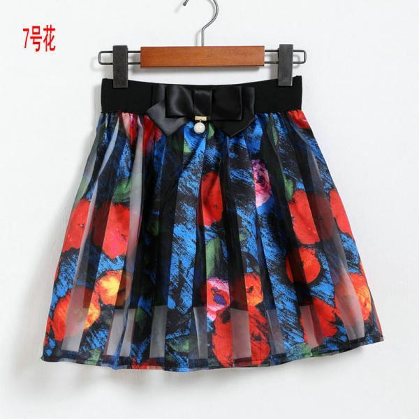 Spring Summer Casual Floral Fashion Skirts - Colorful