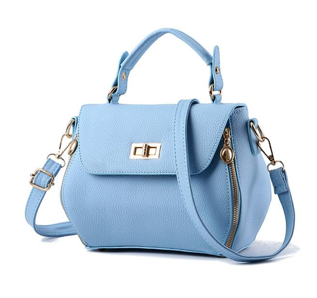 Small Women Messenger Bags Female Crossbody Shoulder Bag Mini Clutch Purse  Bag Candy Color - Sky Blu on Luulla 1756fe4788280