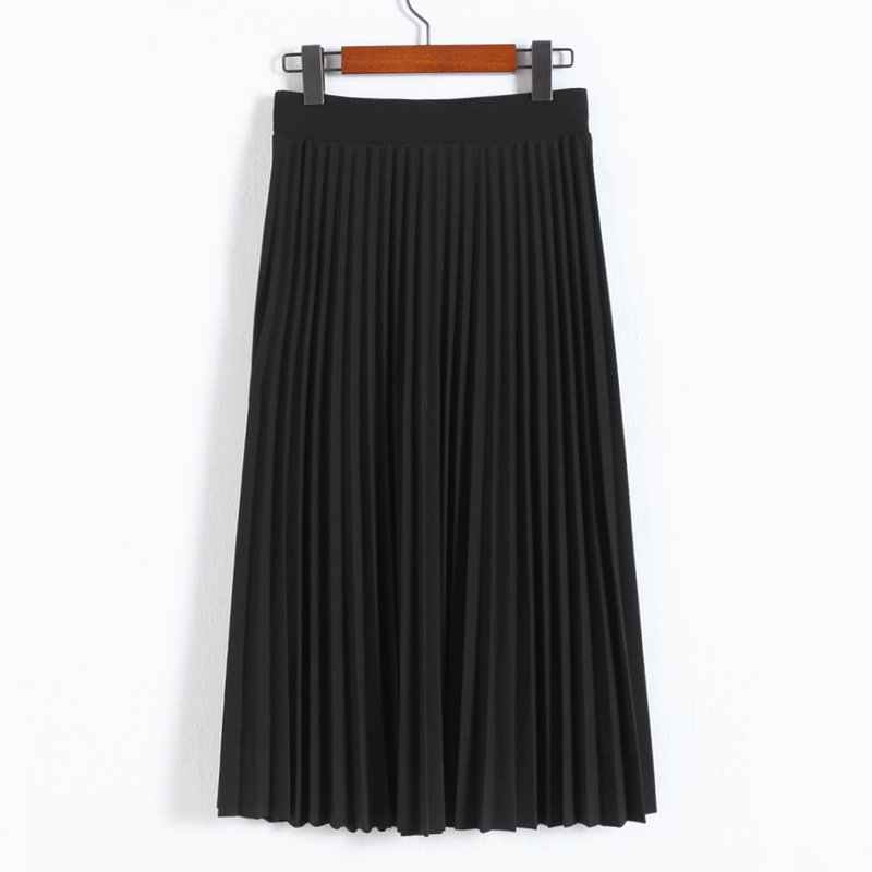 Black High Rise Pleated A-Line Maxi Skirt on Luulla 30915995f